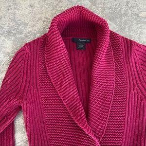 Calvin Klein Cardigan Side Zip Rolled Collar
